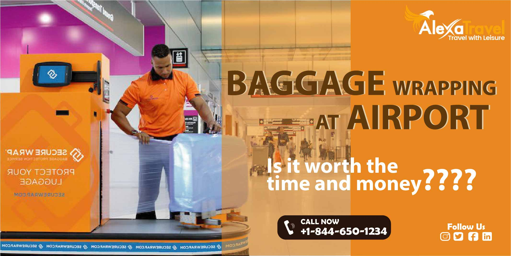 Baggage Wrapping at airport