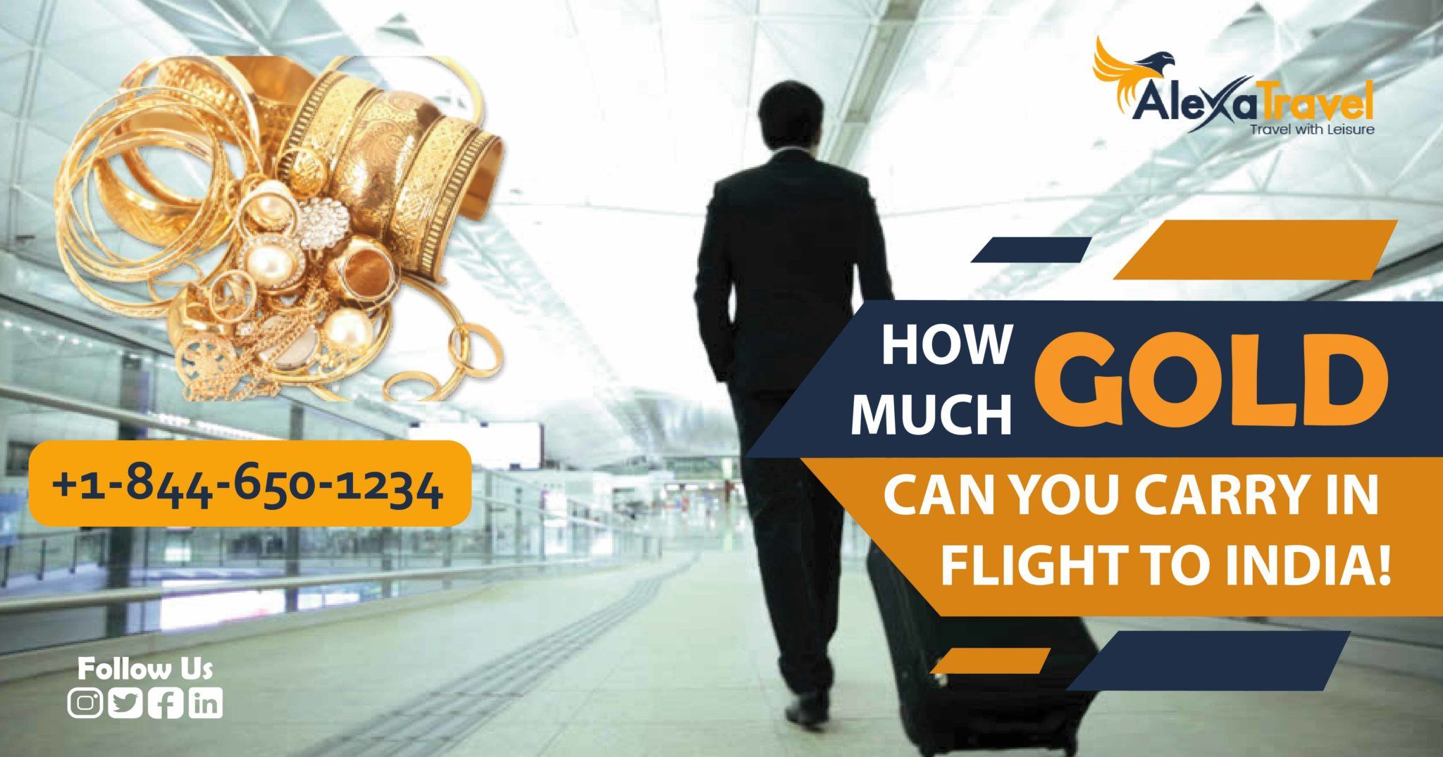 how much gold can you carry in flight to india