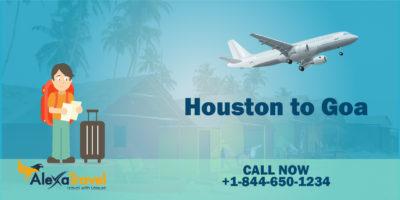 huston to goa flight tickets